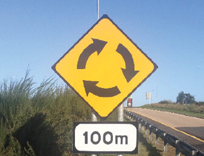 Standard Road Signs Roadway